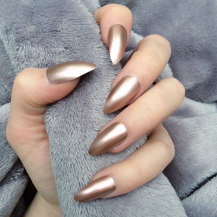 Fantastic Metallic Nail Design