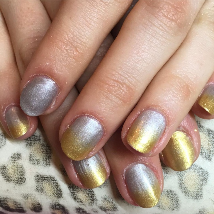 Metallic Gel Nails