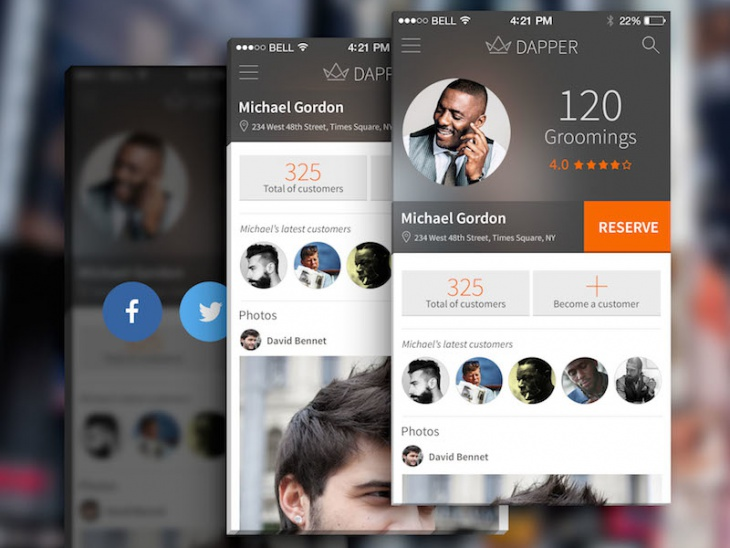 Profile Design for Barber App