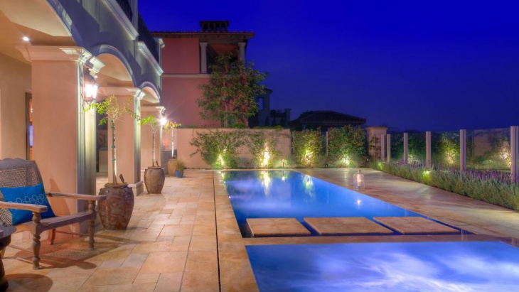 Enchanting Mediterranean Pool Deck
