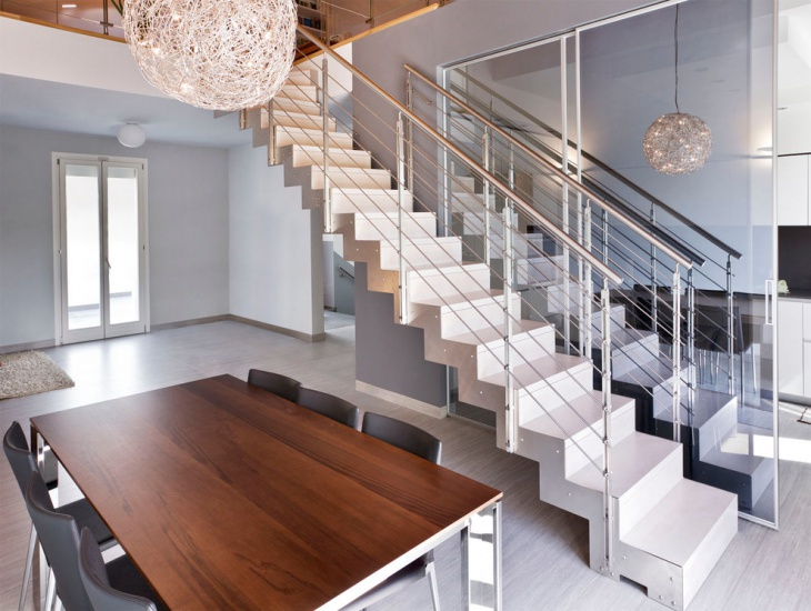 Modern Straight Staircase Design