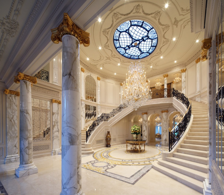 Traditional Style Mansion Staircase Design