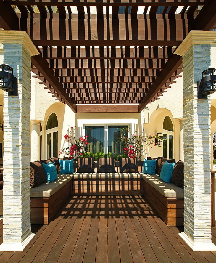Charming Mediterranean Deck Idea