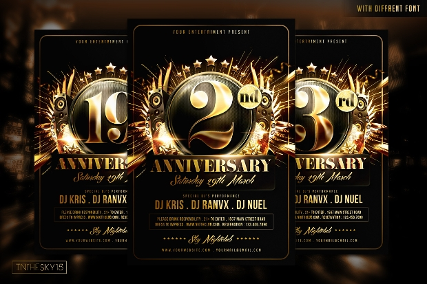 Awesome Anniversary Flyer Template