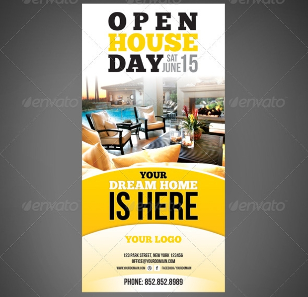 Open House Flyer Designs Psd Download  Design Trends