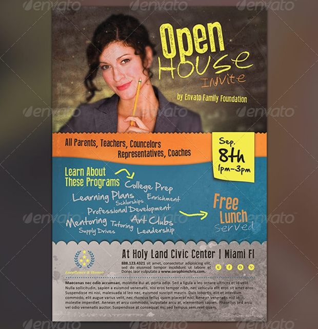 Open House Invitation Flyer
