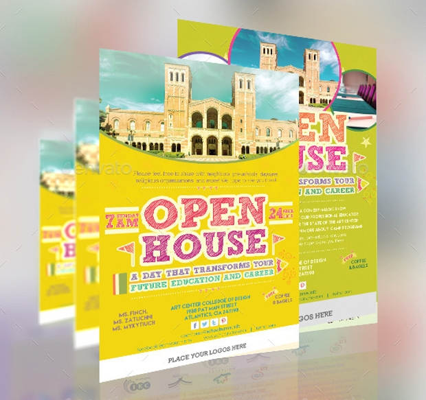Flyer Template of Open House