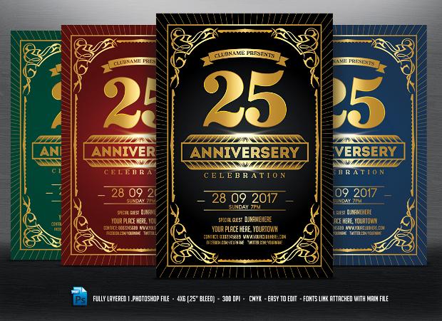 Anniversary Celebration Flyer Design