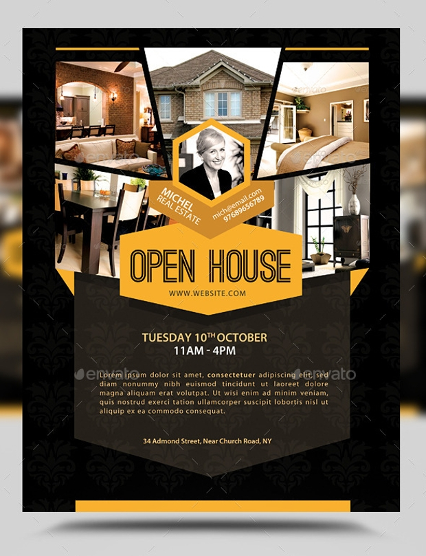 Open House Promotion Flyer Design