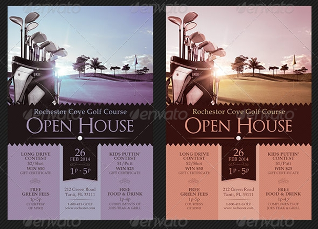 Golf Course Open House Flyer