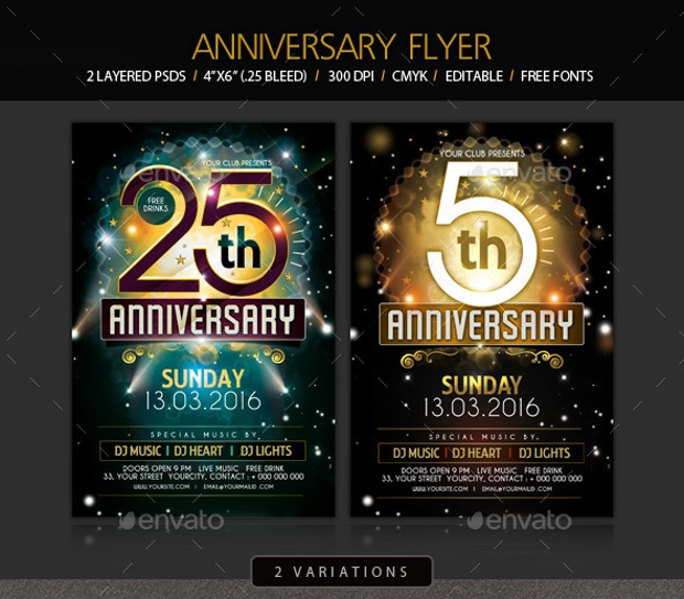 Charming Anniversary Flyer Design Psd Download Design Trends