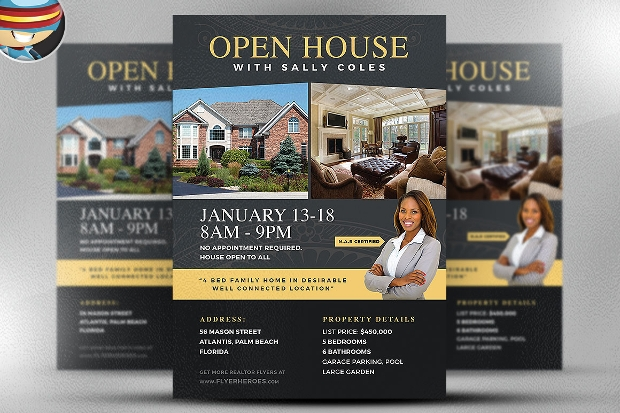 awesome garage sale ideas - 21 Open House Flyer Designs PSD Download