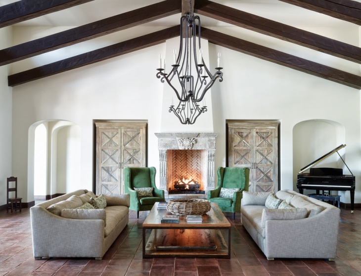 Spanish Style Family Room Design