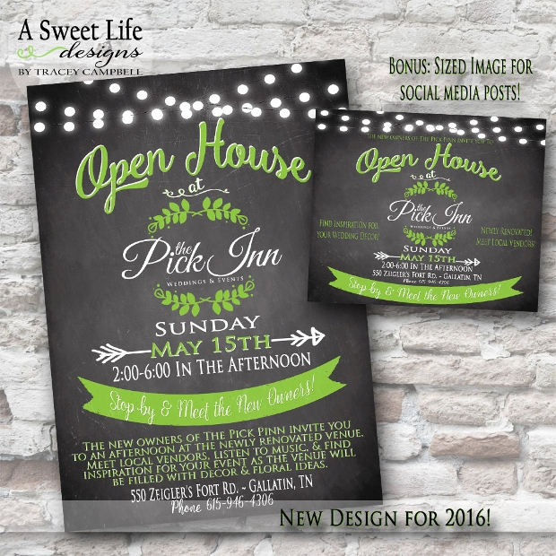 Beautiful Open House Invitation Flyer
