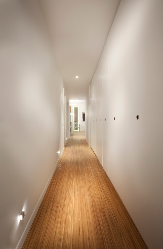modern hall with minimal lighting design
