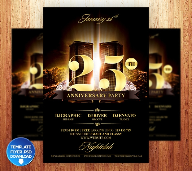 20 Anniversary Flyer Design Psd Download Design Trends