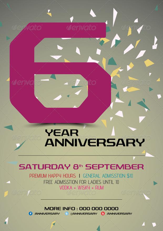 Easy Editable Anniversary Flyer
