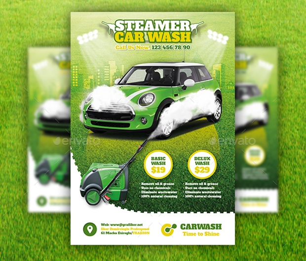Elegant Look Car Wash Flyer Design