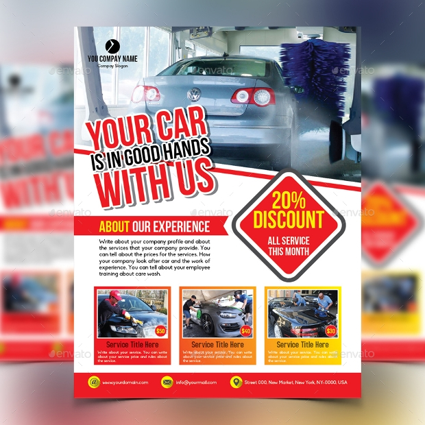 Commercial Car Wash Flyer