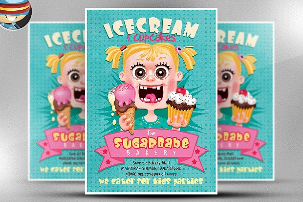 Ice Cream Cup Cakes Flyer
