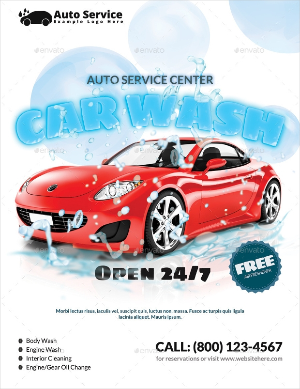 22 Best Collection Of Car Wash Flyer Designs Psd Word Ai Eps