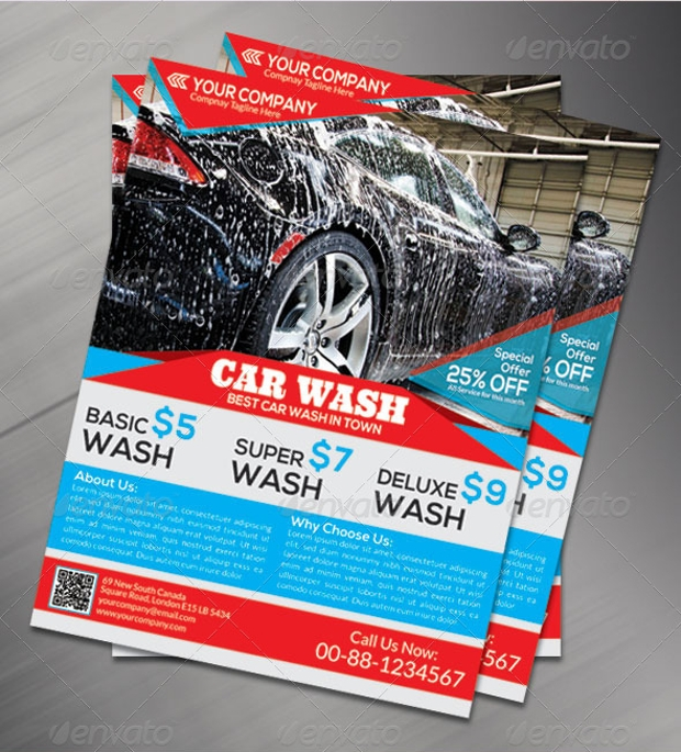 Car Wash Flyer for Advertisement
