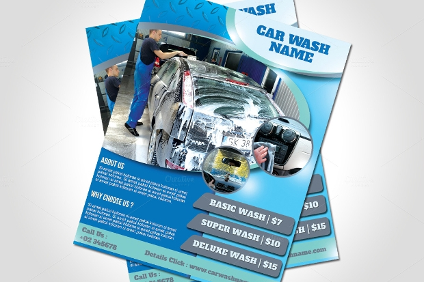 Car Wash Promotion Flyer