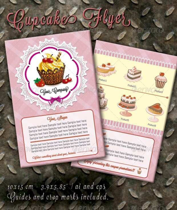 30 Cupcake Flyer Design Templates Psd Publisher