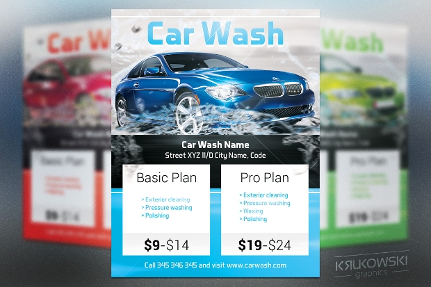 Car wash Psd Flyer Design