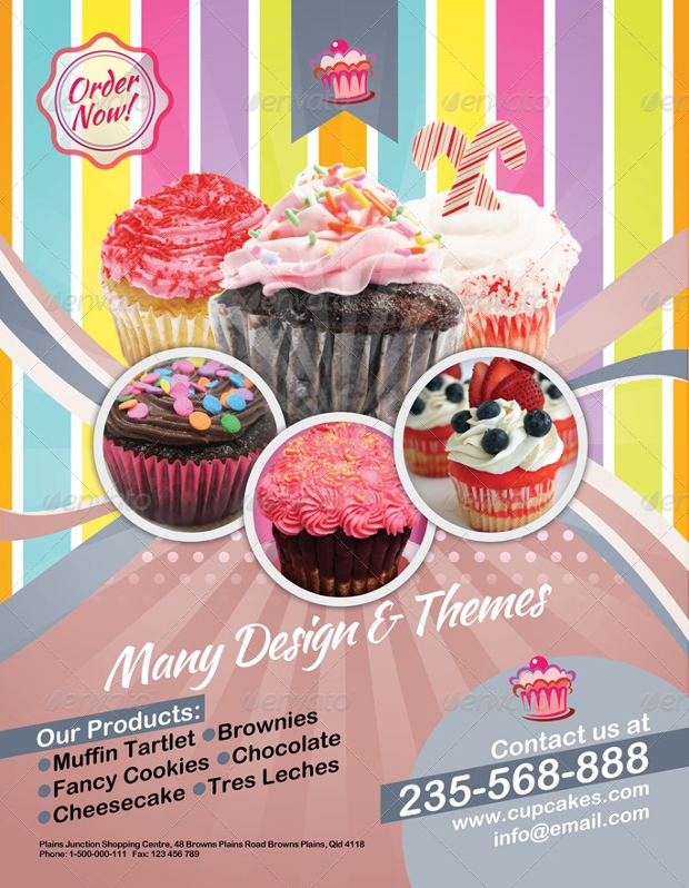 Wedding Cupcake Flyer