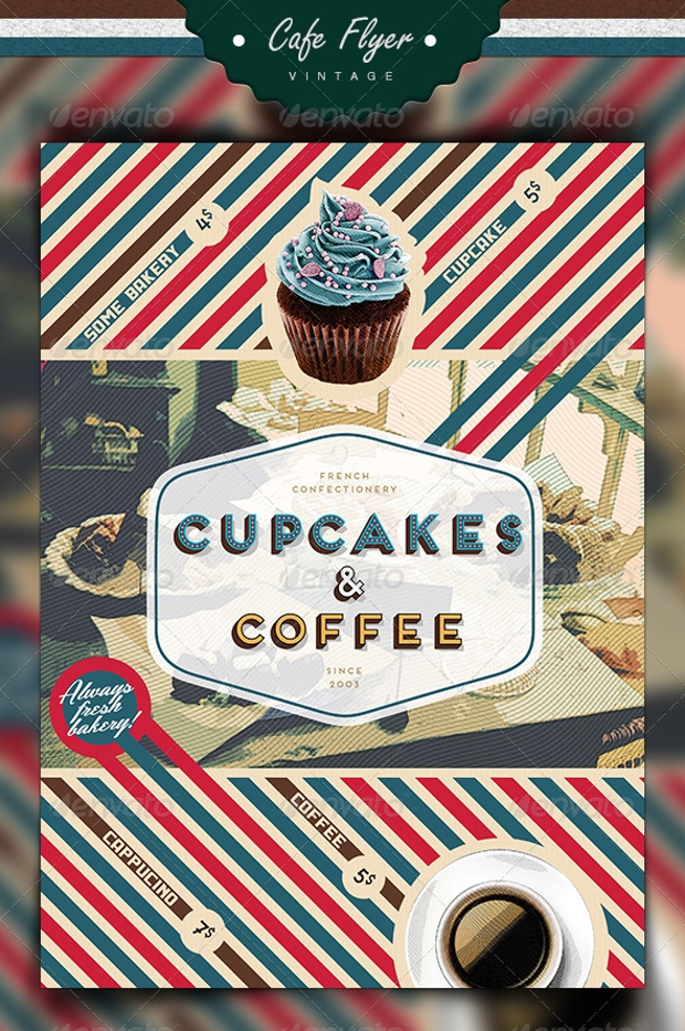 Coffee & Cupcake Flyer