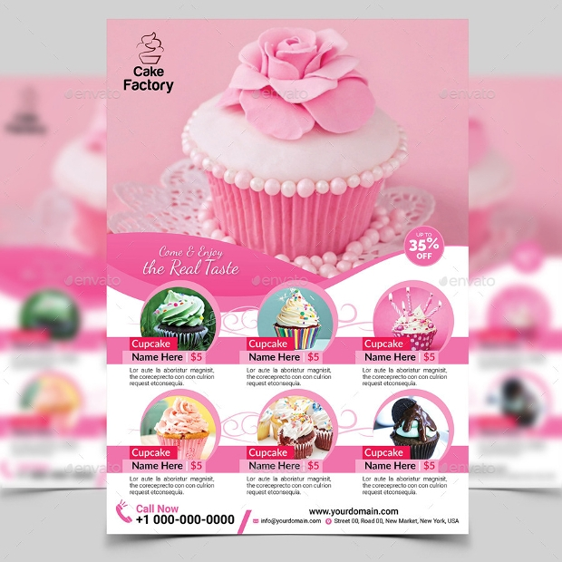 Multipurpose Cupcake Flyer