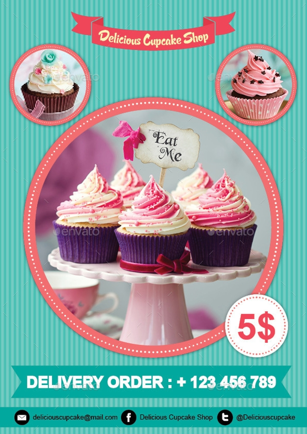 30  cupcake flyer design templates