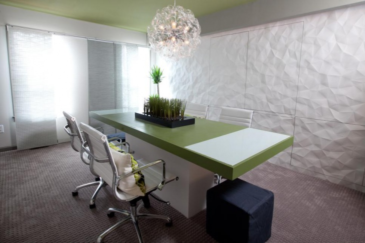 Modern Conference Room with White Walls