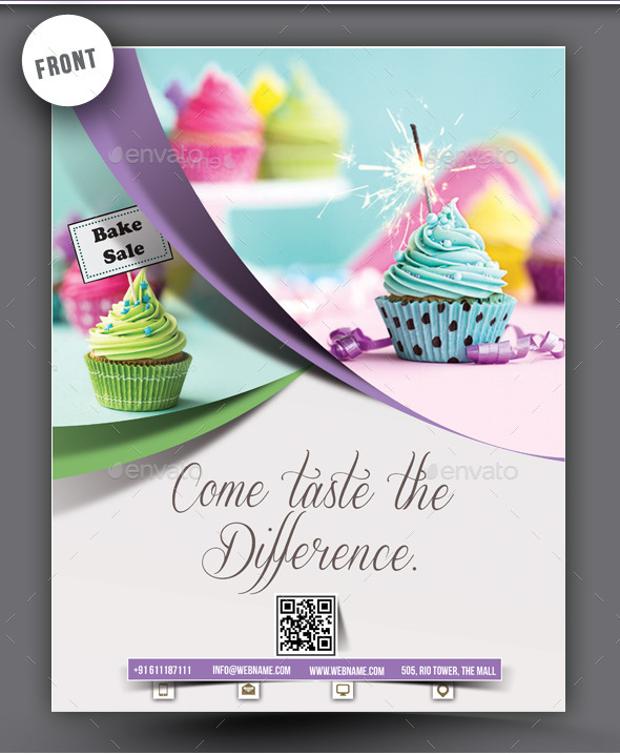Restuarant Style Cupcake Flyer
