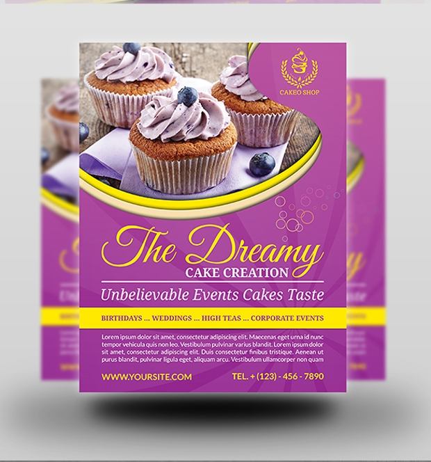 Dreamy Cake Flyer Template