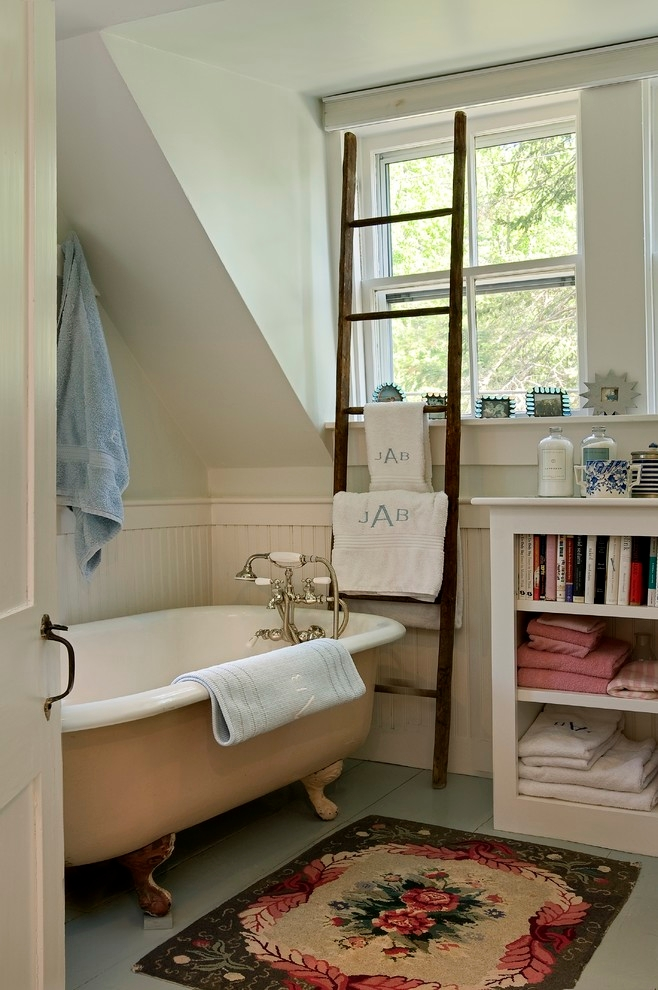 simple bathroom room with gray towel