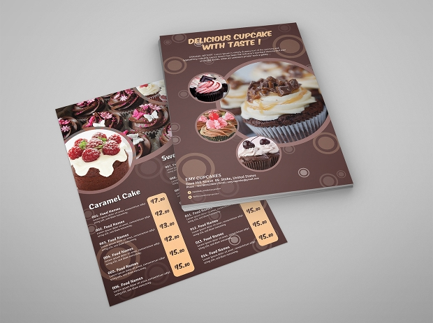 Chocolet Cupcake Flyer
