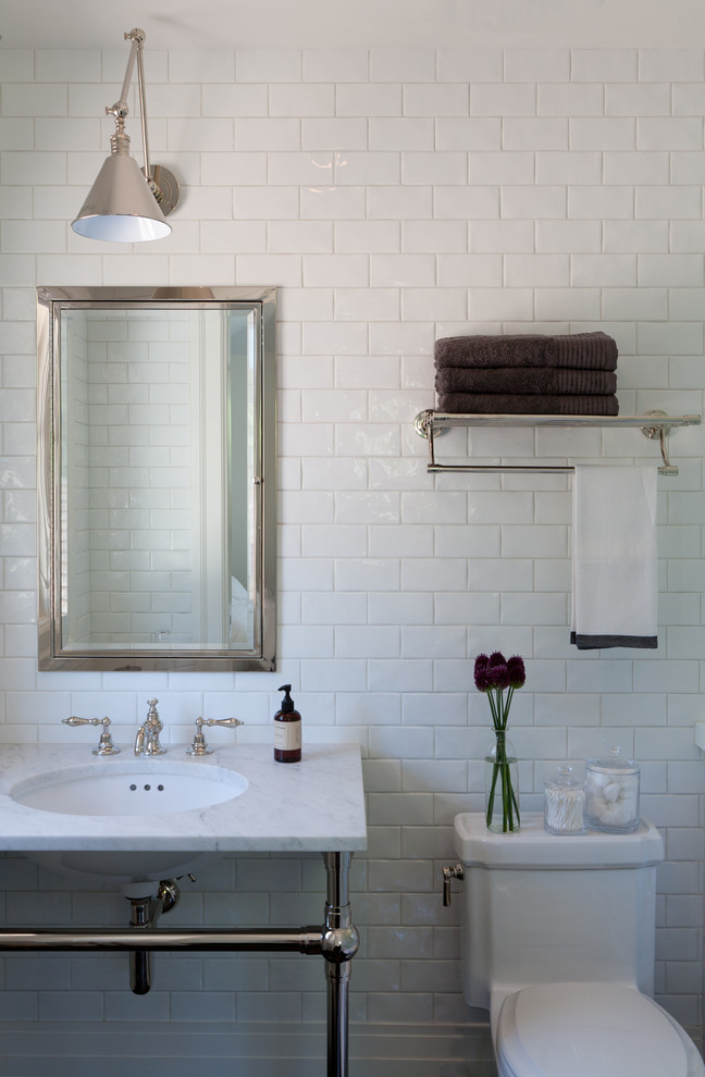 Farmhouse Bathroom Tile Tub