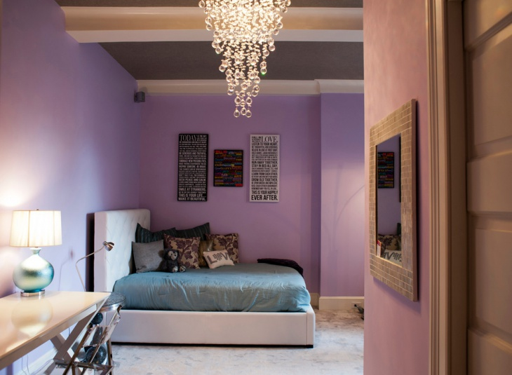 Kids Bedroom with Modern Chandelier Light