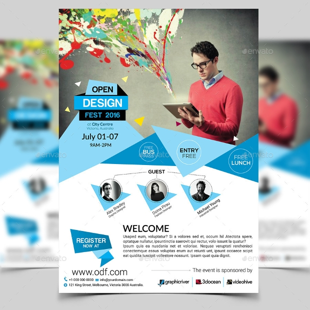 Design Trends Premium Psd: 32+ Conference Flyer Designs, PSD Download