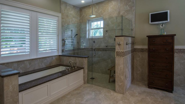 relaxing spa bathroom simple and classic