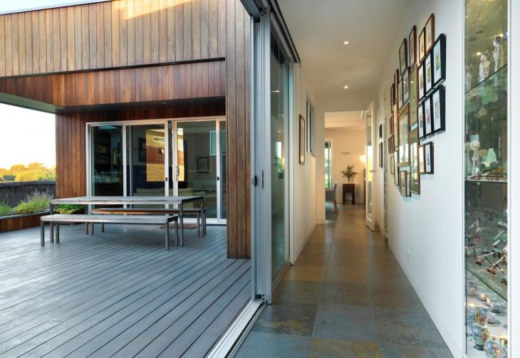 Beautifully Designed Slate Tiles Hallway Design