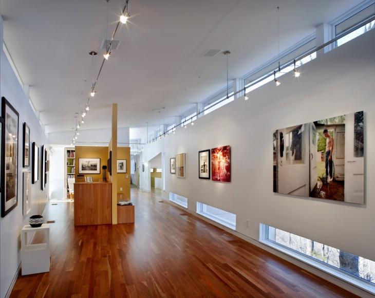 Modern Home Hallway Design with Wooden Floor