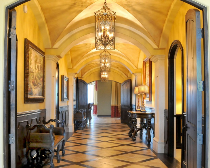 Traditional Home Interior Hallway Design