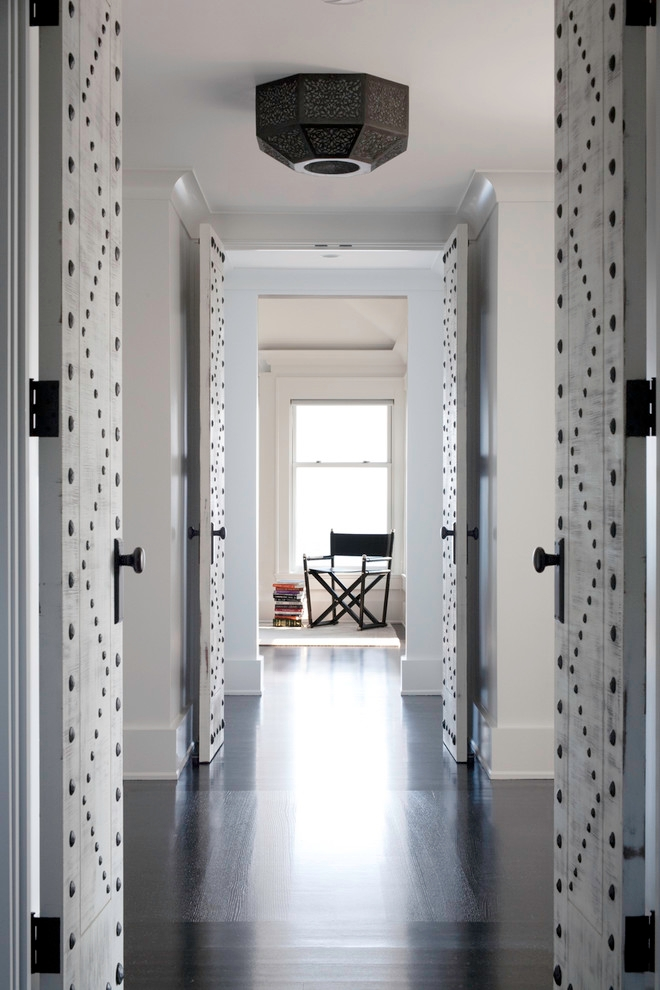 Transitional Hallway Designs with Wooden Floor