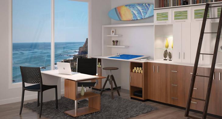 21+ Mid Century Home Office Designs, Decorating Ideas