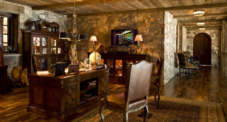 20+ Rustic Home Office Designs, Decorating Ideas | Design Trends ...