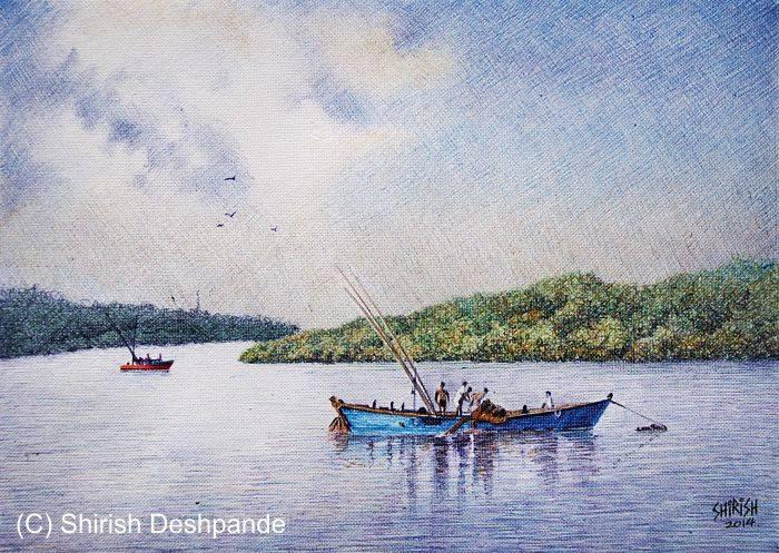 fishing in the mandovi river