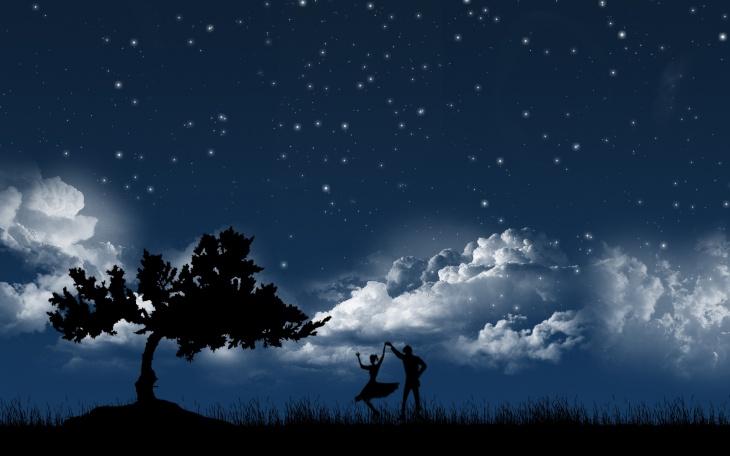 dancing in moonlight wallpaper